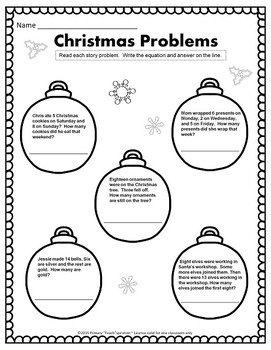 1st & 2nd Grade Math and Literacy Printables - December