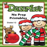 December Math & ELA Worksheets Distance Learning Digital A