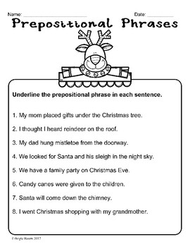 December Math and Literacy Printables Upper Elementary No Prep!