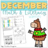 December Math and Literacy Warm-ups