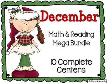 December Math and Reading Mega Bundle
