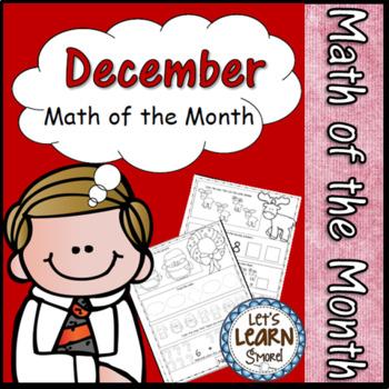 Christmas Math December Themed Math Worksheets, Winter The