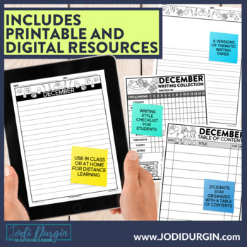 December Writing Prompts | December Writing Journal | December Writing Center