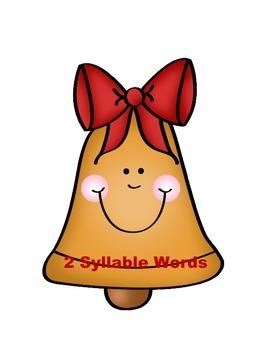 Merry Bell's Syllable Count Kindergarten Literacy Center Week 1 & 2