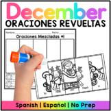 December Mixed Sentences Spanish/ Oraciones Mezcladas - Diciembre