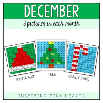 December Month Bundle - 120 Pocket Chart and Mystery Picture