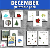 December Monthly Printable Packet Montessori