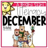 December Morning Bright {Kindergarten Literacy Morning Work}