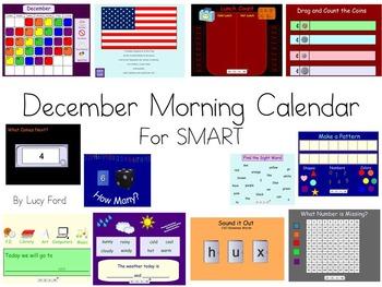 December Morning Calendar SMART