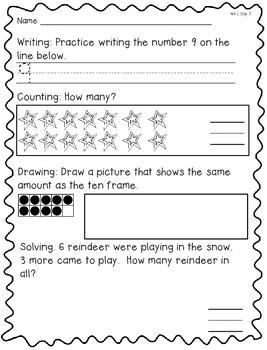 December Morning Math: WEEK 1 FREEBIE