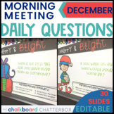 December Morning Meeting Question of the Day | Google Slides