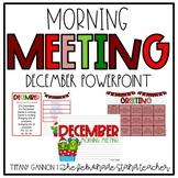 December Morning Meeting and Calendar for Lower Elementary