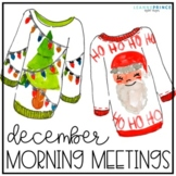 December Morning Meetings - Distance Learning - Online Learning