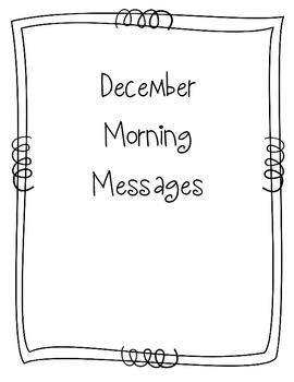 December Morning Message Book