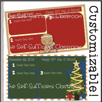December Morning Message Slides~ Editable