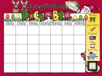 December Calendar and Morning Routine