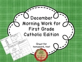 December Morning Work for First Grade Catholic Edition