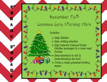 December ELA Morning Work