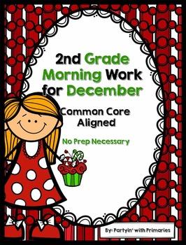 2nd Grade Morning Work for December Common Core Aligned