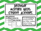 December Morning Work Creative Activities