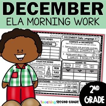 Morning Work December | 2nd Grade