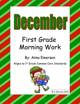 December Morning Work First Grade