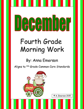December Morning Work Fourth Grade Common Core Standards