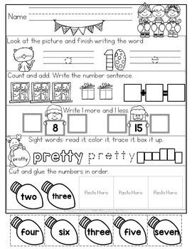 December Morning Work {Kindergarten}