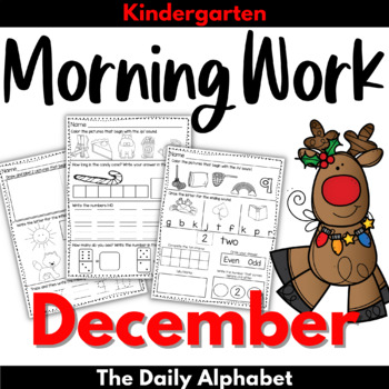 December Morning Work Kindergarten
