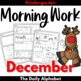 December Morning Work Kindergarten