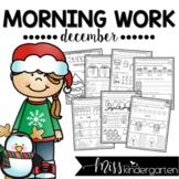December Kindergarten Literacy Practice