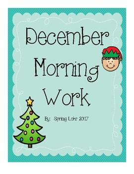 December Morning Work - No Prep - First Grade - 20 Printables