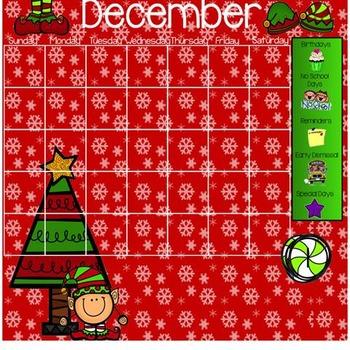 December Morning Work Smarboard Calendar