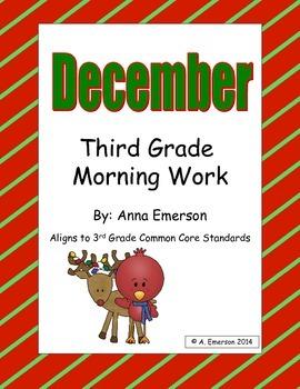 December Morning Work Third Grade