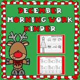 December Morning Work for Kindergarten