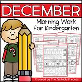December Morning Work for Kindergarten