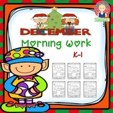 December Morning Work for Kindergarten and First Grade