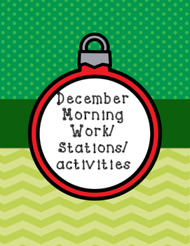 December Morning work /stations