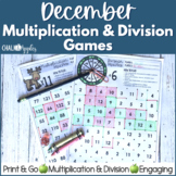 December Multiplication & Division Square Games