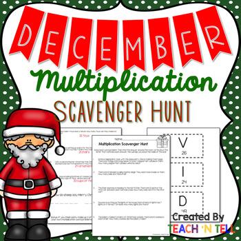 December Multiplication Word Problem Activity