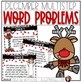 December Multistep Word Problems (2 & 3 Digit Addition & S