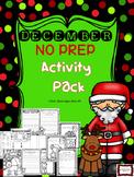 December NO PREP Activity Packet!
