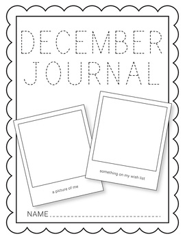 December NO PREP Journal Pages (Early Childhood)