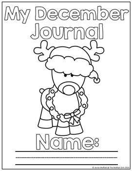 December NO PREP Journal Prompts for Beginning Writers