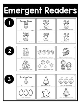 December NO PREP Kindergarten Packet-OVER 100 PAGES!
