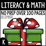 December NO PREP Kindergarten Packet-OVER 100 PAGES!