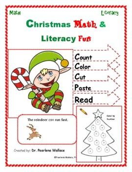 December (Christmas) NO PREP Math & Literacy  Activities w