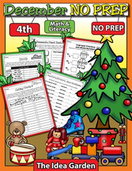 December NO PREP - Math & Literacy (Fourth)