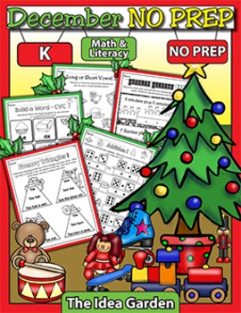December NO PREP - Math & Literacy (Kindergarten)