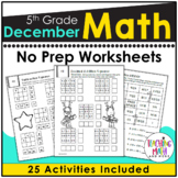 December NO PREP Math Packet - 5th Grade